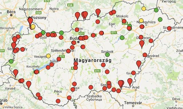 súlymérő pontok térkép Útburkolatba épített súlymérők